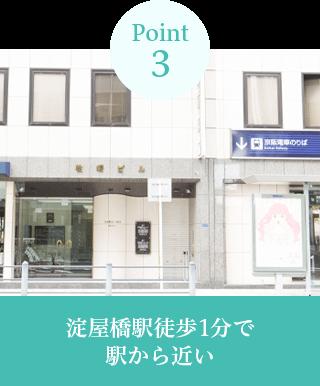 淀屋橋駅徒歩1分で 駅から近い